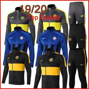 19 20 ICARDI Inter куртка Мужские спортивные костюмы 2019 20 LUKAKU футбол Survetement LAUTARO NAINGGOLAN RAFINHA молния тренировочный костюм футбол
