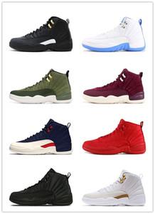 12 zapatos 12s kid OVO zapatos blancos Gimnasio Rojo Gris oscuro baloncesto de los hombres de taxi ante azul Juego de la gripe CNY Winterized negro WNTR zapatillas Boy