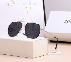 Erkek Tasarımcı Güneş Marka Moda Güneş Kadın Güneş Gözlükleri Eyeware Çift Köprüsü Altıgen Metal Çerçeve Des Lunettes De Soleil