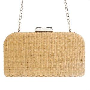 2019 cross-border supply wholesale European and American fashion dinner bag female bag female handmade woven fashion ban