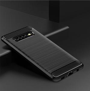 Custodia in fibra di carbonio da 1,5 mm per Samsung Galaxy S10 S10 Plus S10 Edge Amp Prime 3 2018 Custodia in gomma morbida di silicone Toshiba Fortune 2 2018
