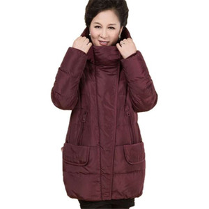 Winter Plus Size 5XL Middle-aged Down Jacket Women Hooded Coat Warm White Duck Down Female Loose Elegant Outwear Thick Parka Y14