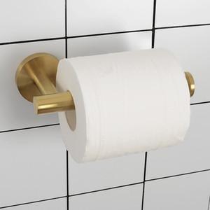 accessori bagno 304 portarotolo in acciaio a parete semplice cremagliera carta rotondo montati WC gancio carta igienica