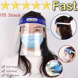 ABD Stok! Emniyet Yüz kalkanı Şeffaf Tam Yüz Koruyucu Kapak Film Aracı Anti-sis Premium PET Malzeme Yüz Shield maske