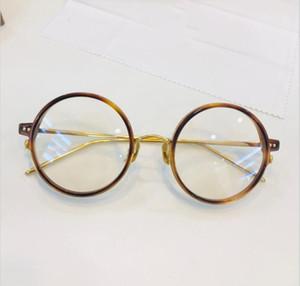 montatura per occhiali montatura in titanio montatura per occhiali restauro antichi modi oculos de grau uomini e donne miopia montature per occhiali con scatola 801