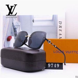 Best-selling wholesale outdoor fashion brand sunglasses frameless round frame avantgarde Retro light-colored decorative luxury glasses g2