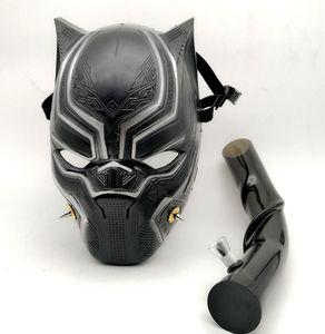 El más nuevo Black Panther Creativo de Silicona Máscara de Gas Plataforma Petrolera con Acrílico Arte Bongs Cigarrillo Tabaco Tabaco de fumar Herramientas de Cachimbas