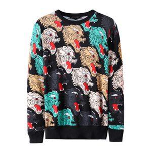 Marca Advertir toda la prenda Tigre cabezal de impresión Suéter Italia Man ropa de las mujeres de lujo de la raya suéter masculino suéteres de diseño Talla L-5XL