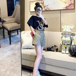 vestito casuale stessa ins moda Web celebrità per l'estate delle donne libera versione coreana del sottile T-shirt a maniche corte pantaloncini a gamba larga due pezzi