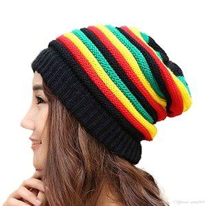 Hot Jamaica Reggae Rasta Beanie Cappello Style Men's Winter Hip Pop Hats Green Yellow Red Black Women Fall Fashion Beanie