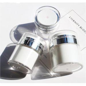 Alto grau 15/30 / 50ml Esvaziar Airless bomba Jars recarregáveis Lotion Creme Cosmetic Jar Viagem Containers 6pcs Amostra Maquiagem Garrafa