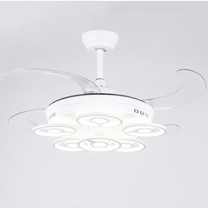 Invisible ceiling fan light LED fan light ceiling lamp modern minimalist living room dining room living room pendant lamp remote control