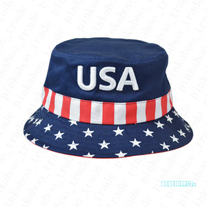 Stickerei Donald Trump faltbare Bucket Hat Frauen-Außensonnenschutz Cotton Fishing Hunting Cap Mens USA Letters Sun Prevent Kappen D42204