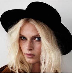 2019 New Fashion Lana Pork Booster piatto cappello piatto per uomo feltro largo cappello Fedora Gambler