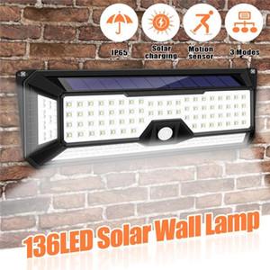 120LED Güneş Işık PIR Hareket Sensörü Su Geçirmez Açık Bahçe Yard Lambası Güvenlik Işık Su Geçirmez Güneş Duvar Lambası