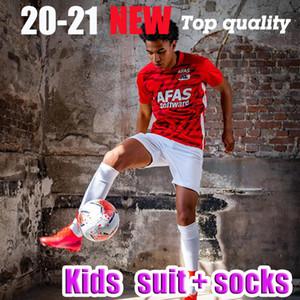 20-21 AZ Alkmaar fútbol casero Jersey 2020 2021 DE WIT Stengs Boadu Niños camiseta de fútbol AZ Alkmaar camiseta de Fútbol maillot de pie camisa