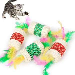 Gato molares garras juguetes Gato Color del caramelo Cuerdas Sisal Cáñamo gato Garras Juguetes para lanzar juguetes de mascotas interactivos