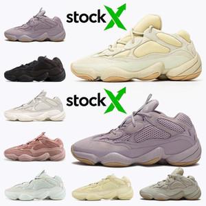 2020 Мужчины Женщины Soft Видение 500 Камень Кость Белые кроссовки Супер Луна Желтый Подсобные Черный Румяна Соль Kanye West Спортивные кроссовки