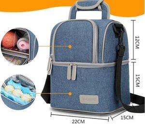 Мумия Рюкзак для беременных подгузник сумка Пеленки сумка теплоизолирующего сумки обед большой емкости для путешествий Открытый Пикник хранения сумки GGA3243