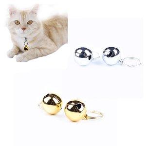 Nuovi 2 pc cane domestico del gatto sveglio Bells cucciolo vestito collare in acciaio inox oro glitter argento acciaio # 01