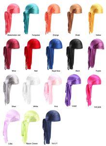 2020 New fashion hot Silk Satin Long Tail Scorpion Pirate Cap Elastic Head Cap Chemotherapy Hat dc272