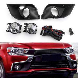 Areyourshop Car Front Bumper Fog Light Kit Fit For Mitsubishi Outlander Sport ASX RVR 2016-2018 Car Auto Accessories Parts