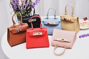 Recenti Fashions qualità PU Designs ragazze dei capretti della borsa della borsa vuote Colori madre e me Eleganti i bambini della scuola Borse One-spalla