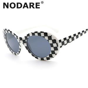 NODARE Óculos de Kurt Cobain óculos de sol claro e transparente Lentes Óculos Oval Eyewear NIRVANA Vintage Moda Classic Sun Glasses