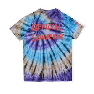 2020 Ins Hot Travis Scott Astroworld Official Souvenir Tie Dye Tee Skateboard Mens progettista della maglietta donne di strada casuale maglietta
