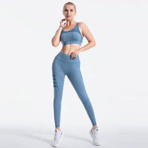 الرياضة رياضة اليوغا الملابس مصمم ملابس رياضية رياضية للياقة البدنية 2 قطعة مجموعة البرازيلي السراويل الطويلة اللباس اثنين من قطعة مجموعة تجريب الملابس مثير الإناث