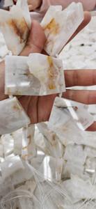 кулон Грубый Сырье природного камня Кристалл кварца Druzy Beads ручной Избитый Вентилятор Прямоугольник Freeform Nugget трапеция Ablong Connector