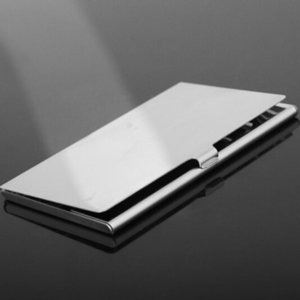 Silver Color Business Card Storage Box Aluminum Metal Business ID Credit Card Holder Case Hot Selling