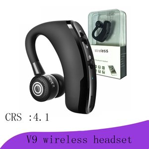high quality V9 Wireless Bluetooth Headphones CSR 4.1 Business Stereo Wireless Earphones Earbuds Headset With Mic Voice Control with package