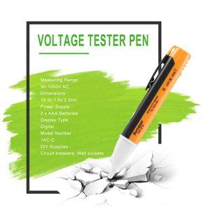 Электрические испытания Pen настенная розетка переменного тока на выходе детектора напряжения датчика тестер светодиодный индикатор напряжения 90-1000V по всему миру Магазин