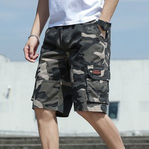 Дизайнер Мужчины камуфляж шорты Casual Male Military Cargo Shorts колен мужские Летние короткие штаны Homme плюс размер 4XL