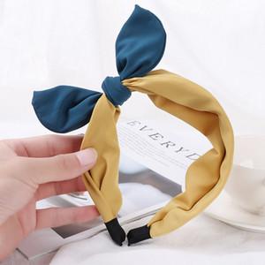 Coreano Boutique Hairband Rabbit Ears Cloth Bow fascia delle ragazze delle donne dei capelli della testa del cerchio Bands accessori per la ragazza Hairbands Headwear