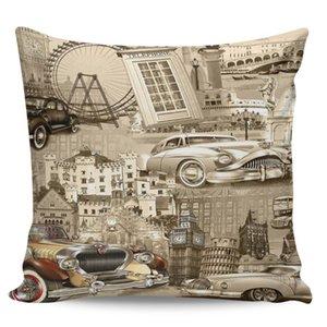 Europa Auto famosi edifici Federe Casi lungo Cuscino Cuscino Sack Pillowslip biancheria da letto Multi-Size copertina