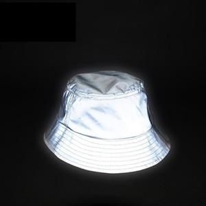 Uomo Donna Cappello Riflettente Unisex Glow In The Dark Hip Hop All'aperto Estate Spiaggia Pesca Sole Secchio Cappello Bob Chapeau Caps Wfgd809 Y19070503