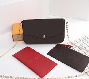 sacchetto di polvere di cuoio di modo superiore del Patchwork Messenger Bag Donne femminile catena tracolla signore di sacchetto Borse Flap borsa con la scatola M61276