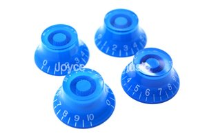 1 Set of 4pcs Niko Blue Top Hat Electric Guitar Knobs For LP SG Style Electric Guitar Free Shipping Wholesales