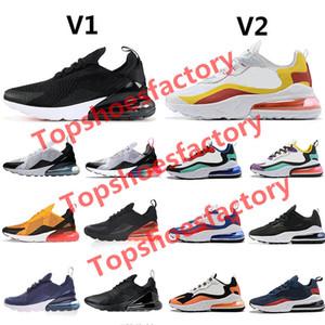 Nike air max 270 react airmax 270 60+ цвет Подушка Sneaker Конструктор обувь 27c Тренер Road Star Железный Sprite 3M CNY Man Общие для мужчин Женщины 36-45 без коробки