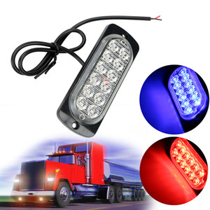 Signal Lamp 18W Truck Car Emergency Side Strobe LED Warning Luz Car-styling luzes do carro Assembly 12 LED Auto Acessórios