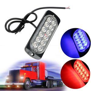 Сигнальная лампа 18W тележки автомобиля Emergency Side Strobe LED Предупреждение Light Car-стилизации Автомобильные фары в сборе 12 LED автоаксессуаров