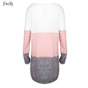 Womens Loose Sweater Dress Ladies Knitted O Neck Knitwear Casual Dresses Fall Winter Trendy Dress Drop Shipping