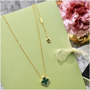 Cadeia Clover Colar prata de quatro folhas Pingentes Rose Gold gargantilhas Preto Verde Vermelho Branco Gemstone Jóias e Acessórios de luxo Designer Jóias