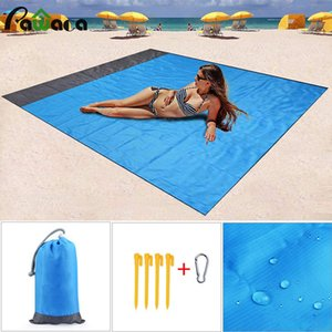 Gran manta de picnic de bolsillo a prueba de agua Esterilla para la playa de arena manta libre portátil toalla de playa camping al aire libre de la comida campestre colchón de la estera del cojín