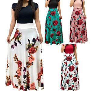 Femmes Flora ColorBlock Tshirt Summer Manches courtes Divers styles Designer Robe décontractée Famale Col Col Vêtements minces