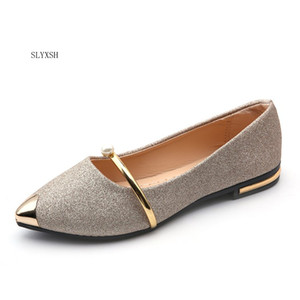 2018 Spring Autumn New Ladies Flat Shoes Casual Women Shoes Comfortable Pointed Toe Flat