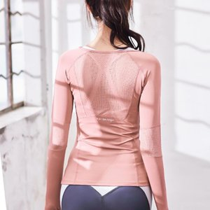 Women's Sports Wear Fitness Women knitting Long Sleeve Gym Woman Tight Sport Shirt Yoga Top Female Workout Tops T-shirt