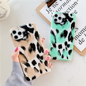 Leopard Texture Couple Phone Case for IPhone 11 Pro Max XS X MAX XR 6 6s 7 8 Plus Soft Silicon Back Cover 100pcs